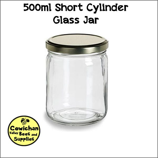 500ml short cylindar glass jar