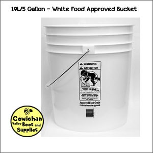 5 gallon honey storage bucket 19 Litres