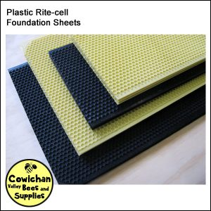 foundation Rite-cell plastic sheets for hive frames