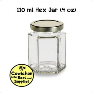40z hexagon jar 110 ml