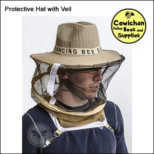 beekeepers protective hat with veil netting