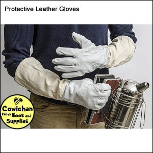 Protective leather bee gloves