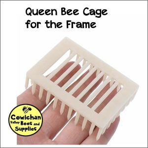 Queen bee needle cage for on the frame